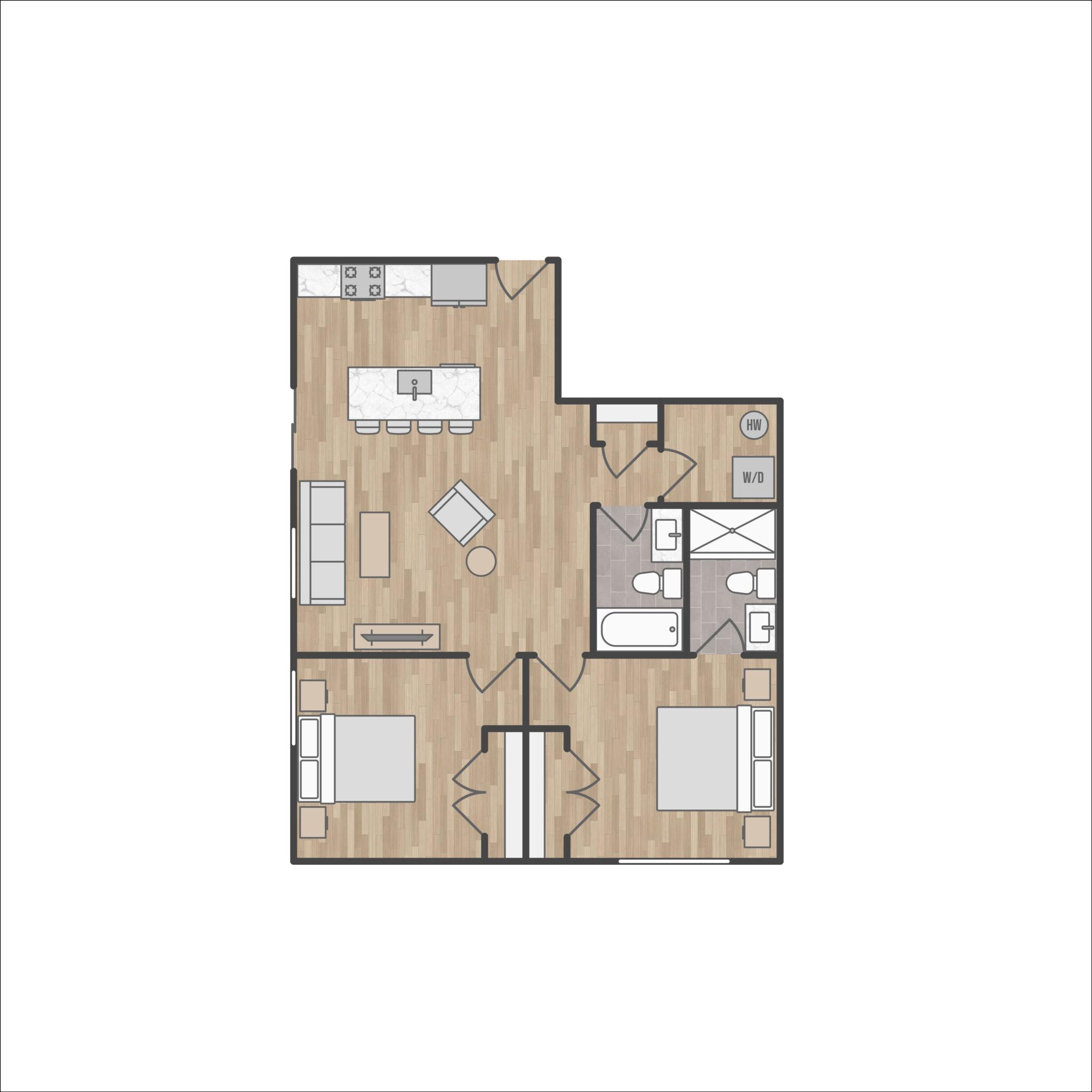 20056200-1952 Bryn Mawr Avenue_2D Floor Plan_First Floor Unit Type 3_V1 Final